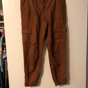 Loft brown ankle trousers